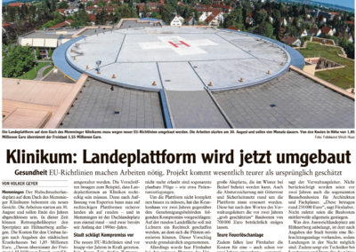 Mit freundlicher Genehmigung der Memminger Zeitung (21.08.2018)